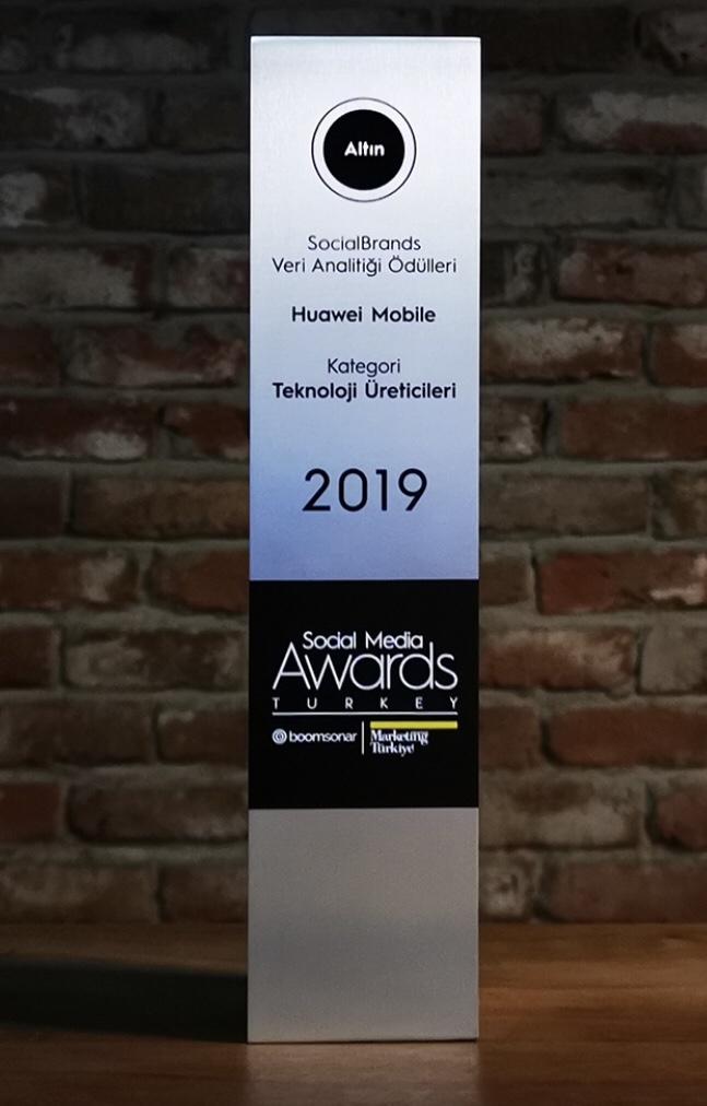 HUAWEI Tüketici Elektroniği Grubu, SocialBrands Veri Analitiği Ödülü'nü kazandı